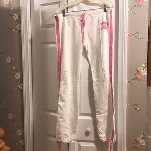 VSC Pink women's sweatpants in white